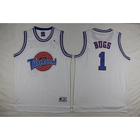 Space Jam Movie Jersey #1 Bugs White Jersey