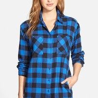 Women's Sandra Plaid Cotton Flannel Boyfriend Shirt,