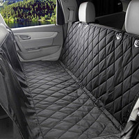 MOKOQI Pet Travel Barrier Dog Seat Covers With Adjustable Seat Anchors And Seat Belt Opening WaterProof & NonSlip Backing Dog Car Hammock For All Cars Trucks SUV(Black)