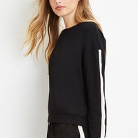 Faux Pearl-Trimmed Sweatershirt