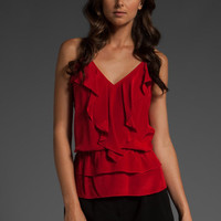 RORY BECA Ruffle Shuli Cami in Jungle Red at Revolve Clothing - Free Shipping!