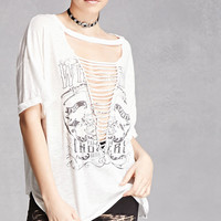 Born to Ride Caged Cutout Tee