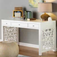 Javion Writing Desk with 3 Drawers