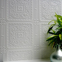 Turner Tile Paintable Textured Wallpaper design by Brewster Home Fashions