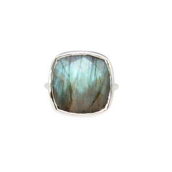 Labradorite Silver Statement Ring
