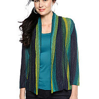 Ruby Rd Twilight Ombre Stripe Cardigan