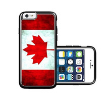 RCGrafix Brand Canada Canadian Flag Grunge Distressed iPhone 6 Case - Fits NEW Apple iPhone 6