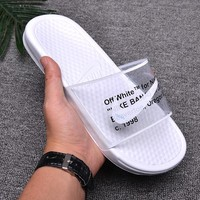 New Nike Benassi Swoosh cheap Men's and women's nike Slippers Beach shoes-1686248855