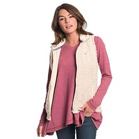 Sherpa Vest in Oyster Gray by The Southern Shirt Co.