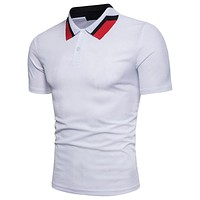 Summer Style Cotton Man Polo Shirts Solid Color Short Sleeve Slim Breathable Famous Men's Polo Shirts Male Tops