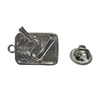 Silver Toned Painting Roller in Tray Painter Lapel Pin