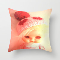hello dolly Throw Pillow by helendeer