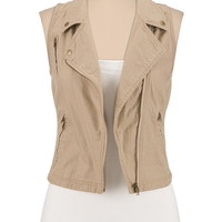 Lightweight Asymmetrical Zip Vest