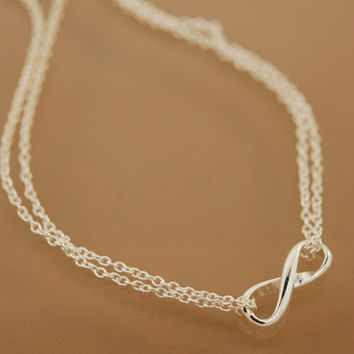Infinity Necklace doubled