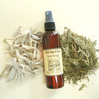 Sacred Smudge / White Sage-Cedar and Crystal Liquid Smudge Spray / cleansing / purifying / ritual use