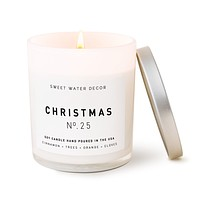 Christmas Soy Candle | White Jar Candle