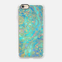 Fascinating Casetify iPhone 7 Case | Sapphire & Jade Stained Glass Mandalas Design by Micklyn Le Feuvre (iPhone 6s 6 Plus SE 5s 5c & more)