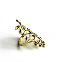 """Vine And Dine"" Gold Ring With Diamond Accent"