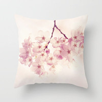 cherry blossoms Throw Pillow by Sylvia Cook Photography   Society6