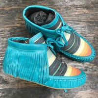 Apache Turquoise Moccasins By L&B #33