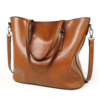 Glance Leather Tote Bag