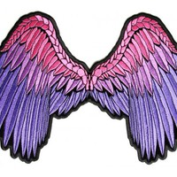 Beautiful Angel Wings In Pink and Purple Ladies Patch