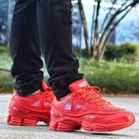 Sale Raf Simons x Adidas Consortium Ozweego 2 III Retro Sport Smart Running Shoes Red Trainers Shoes S74584