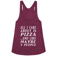 all about pizza racerback