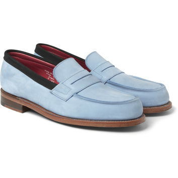 London Collections. Men - Sibling x Grenson Nubuck Penny Loafers   MR PORTER