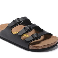 Men's and Women's BIRKENSTOCK sandals Florida Soft Footbed Birko-Flor 632632288-054