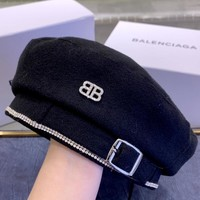 BALENCIAGA Personalized Double B Letter Men's and Women's Beret