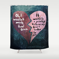 Broken Heart-The Fault in Our Stars Shower Curtain by Anthony Londer | Society6