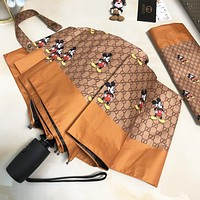 GUCCI & Disney New fashion more mouse letter print umbrella