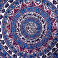 Purple pink elephant mandala wall tapestry hanging bedspread bedsheet table cover beach throw psychedelic mandala hippie tapestry indian