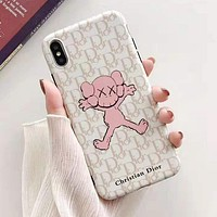 DIOR Fashion Lovely Print iPhone Phone Cover Case For iphone 6 6s 6plus 6s-plus 7 7plus iPhone X XR XS XS MAX White