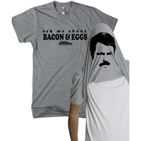 PARKS AND RECREATION BACON & EGGS FLIP T-SHIRT