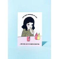 Thinking About Food Greeting Card