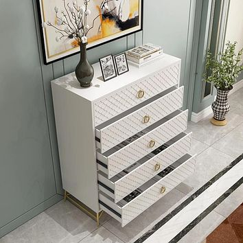 Minimalist Modern Metal Drawer Chest