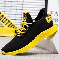 New Mesh Men Sneakers Casual Lace-up Sneakers Breathable No-slip For Male Tennis Flying Weaving Tourist Leisure Sports Shoes
