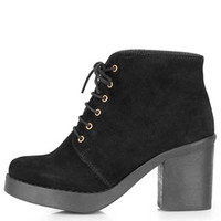 ATHENA LACE-UP ANKLE BOOTS
