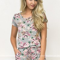 Charleston Floral Pocket Romper