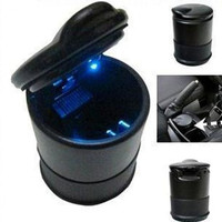 Auto Car Truck Smoke Cigarette Ashtrays Holder Cup Bucket Blue Light 4S Light Ashtray