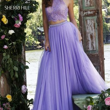 Jeweled Neck Two-Piece Gown by Sherri Hill