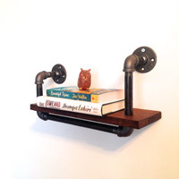 Wall Bookshelf // Reclaimed Wood & Pipe // Ships Nationwide