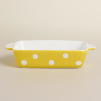 Mini Rectangular Yellow Dots Baker - World Market