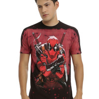 Marvel Deadpool Red Wash T-Shirt