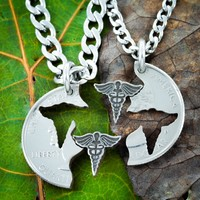 Medical Necklaces for Couples and Best Friends, Doctor and Nurse gifts by Namecoins