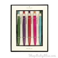 "Kate Spade ""So well Composed"" Pen set of 5"
