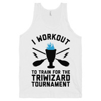 Workout for the Triwizard Tournament, Womens Workout Tops, Clothing, Mens Workout Shirt, Nerd Fitness, American Apparel, Workout Tank.