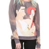 Disney The Little Mermaid Ariel & Eric Girls Crew Pullover